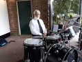 Paul Hiley depping for Joe on percussion at Connaught Gardens