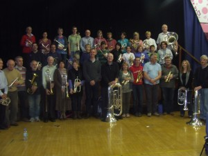 Philip Harper with OSMB, Brass Class and guests