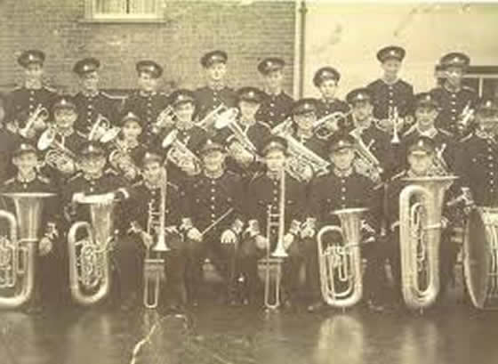 Ottery St Mary Town Band circa 1949